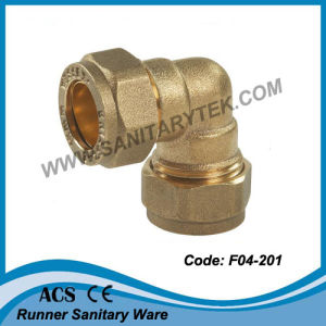 Brass Compression Fitting for Copper Pipe (F04-201) pictures & photos