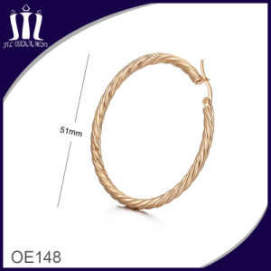 New Fashion Rope Shape Gold Hoop Earrings pictures & photos