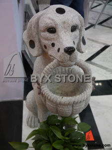 Granite Stone Garden Dog with Basket Animal Sculpture pictures & photos