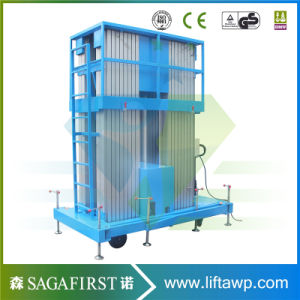 Aluminium Mast Climbing Aerial Work Platform Lift Table pictures & photos