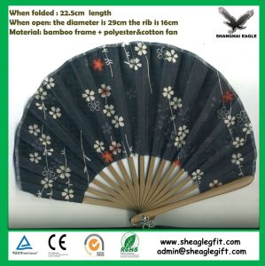 Customized Nice Promotional Paper Bamboo Fan pictures & photos