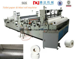 Ce Certification Automatic Maxi Roll Rewinder Toilet Paper Roll Slitter Machine pictures & photos