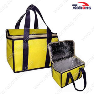 Yellow Plain Aluminium Foil Insulated Ice Cooler Bag pictures & photos