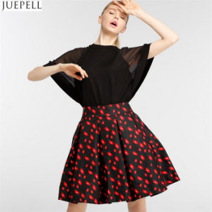 Autumn New Women High Waist Skirts Brand in Europe and America Temperament Put on a Large Floral Skirt a Word Tutu pictures & photos