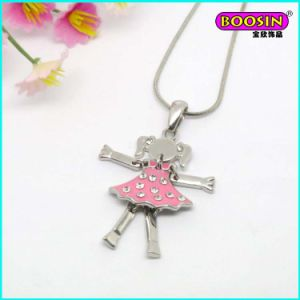 Fashion Custom Lovely Girl Charm Wholesale Silver Pendant Necklace pictures & photos