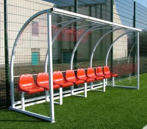 High Quality Team Player Shelter Soccer Player Dugout for Football Court pictures & photos