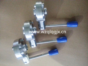 Sanitary Stainless Steel Manual Butterfly Valve Welded with Silicone Seat pictures & photos