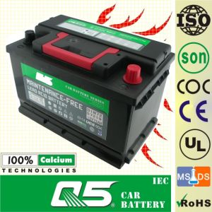 DIN-57412 12V74AH Maintenance Free Car Battery pictures & photos