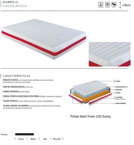 Single High Density Bamboo Cheap Visco Elastic Foam Mattress
