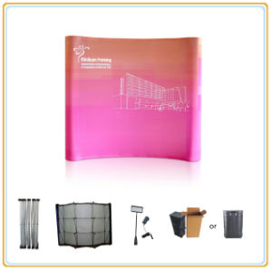 10FT Curve Shape Magnetic Pop up Exhibition Stand pictures & photos