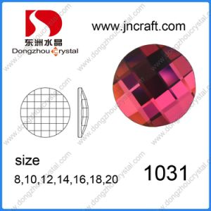 20 30 40mm Unique Cuts Round Flat Back Glass Stones for Jewelry Accessories pictures & photos
