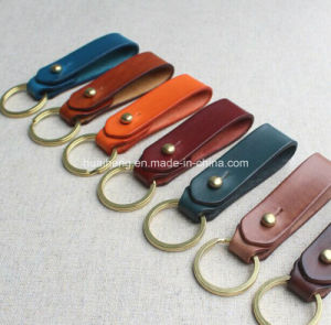 Handmade Genuine Leather Key Chain Belt Loop Key Holder pictures & photos