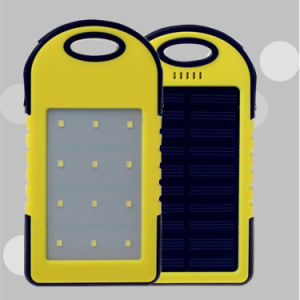 Outdoor Portable Travel Waterproof 5000mAh, 8000mAh, 10000mAh, 12000mAh Mobile Solar Power Bank with LED Lights pictures & photos