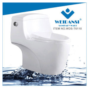 Weidansi Ceramic Wash Down S-Trap One Piece Toilet (WDS-T6110) pictures & photos