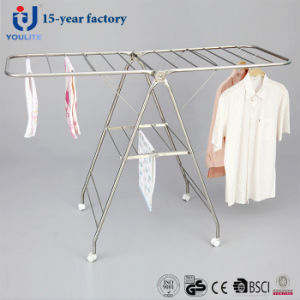 Stainless Steel Foldable Wing-Style Laundry Drying Rack pictures & photos
