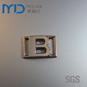 Fashion B Letter Plastic Shoe Buckles and Accessories in UV Plating pictures & photos
