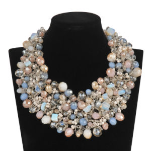 Big Luxury Full of Glass Beads in Colorful Necklace (XJW13605) pictures & photos
