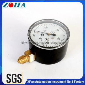 63mm Diameter Pressure Gauge with Capsule Element Black Steel Case pictures & photos