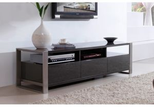 "-Modern Stylist 63"" High-Gloss Gray TV Stand pictures & photos"