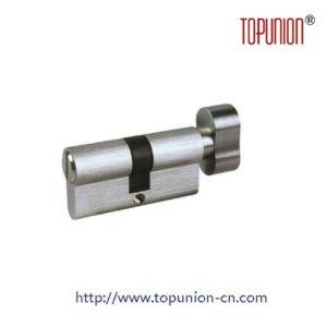 En1303 Euro Profile Solid Brass Door Lock with Knob pictures & photos
