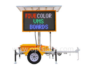 Colorful Solar Powered Traffic Control Hydraulic Lifting System Vms Trailer pictures & photos