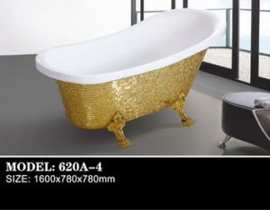 Handwork Paste Mosaic Acrylic Soaking Bathtub (620A-4) pictures & photos