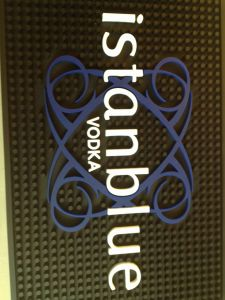 Custom Design Embossed Logo Soft PVC Bar Rail Mat pictures & photos