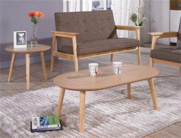Ellipse Wooden Coffee Table (3021) pictures & photos