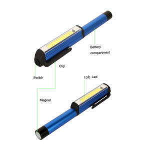 250 Lumens Torch Work Light Magnetic Pocket Clip Camping COB Pen Light pictures & photos