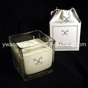 Scented Soy Square Jar Wedding Gift Candle with Box pictures & photos