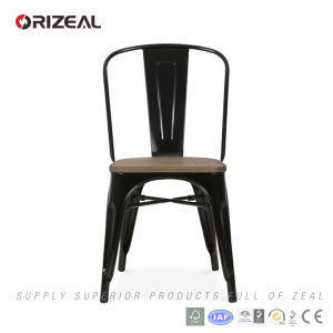 Replica Tolix Xavier Pauchard Metal Chair with Wood Seat (OZ-IR-1001W) pictures & photos