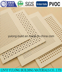 Acoustic Panel Gypsum Board (595x595mm/600x600mm) pictures & photos