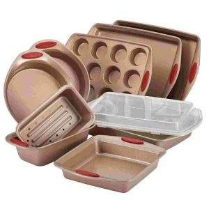 10 Piece Nonstick Bakeware Set Latte Brown with Handle pictures & photos