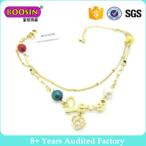 Gold Plating Fashion Charm Bracelet with Pendant pictures & photos