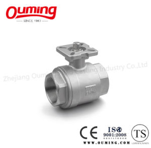 2PCS Thread Ball Valve with Mounting Pad pictures & photos