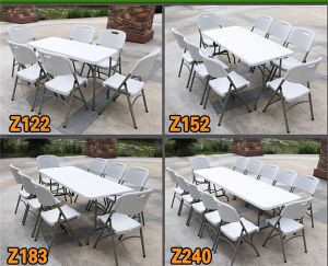5ft Plastic Folding in Half Table pictures & photos