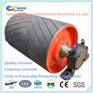 Bend Rubber Conveyor Pulley Roller Drum, Steel Gravity Conveyor Roller for Conveyor Belt pictures & photos