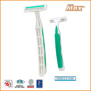 Twin Stainless Steel Blade Disposable Razor Fro Man (LY-2166) pictures & photos