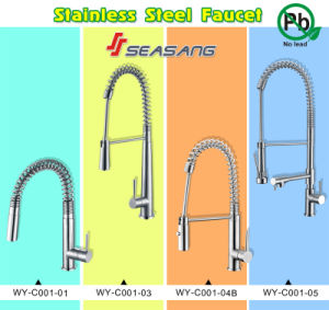 Stainless Steel Spring Pull-Down Kitchen Faucet with CSA&Watermark Certificates pictures & photos