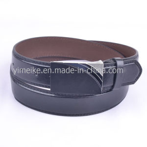 Low Price Factory Skinny Wholesale Casual Man′s PU Leather Belt pictures & photos