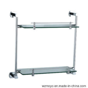 Zinc Double Glass Shelves for The Bathroom pictures & photos