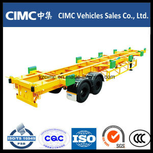 Cimc 2 Axle 40FT Skeletal Terminal Semi Container Trailer pictures & photos