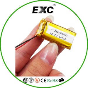 Exc701833 3.7V 380mAh Rechargeable Small Lithium Polymer Battery pictures & photos