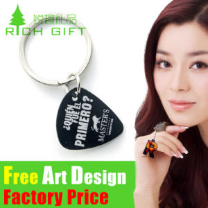 Customized Fashion Tie Bar Watch Metal/PVC/Feather Printing Keychain pictures & photos