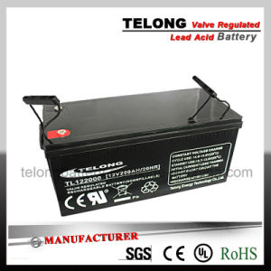 12V200ah UL Approve Rechargeable Solar Battery pictures & photos