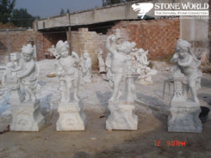 Carrara White Marble Flower Pot for Garden/Marble Sculpture for Garden pictures & photos