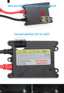 Car HID Xenon Kit H4 High Low H4-3 Hi/Lo Car Bi Xenon HID Kits 55W Quick Start pictures & photos