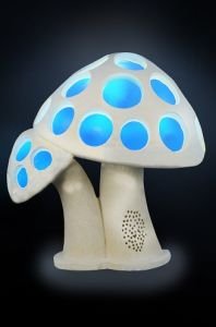 Sandstone Sculpture Mushroom Style LED Light Lantern with Loudspeaker pictures & photos