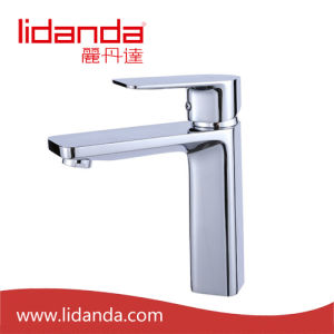 Contemporary Brass Basin Mixer with Chrome Finish pictures & photos