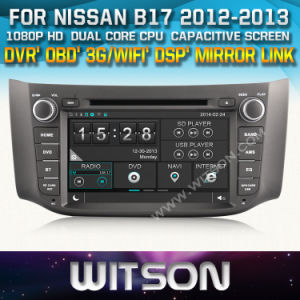 Witson Car DVD Player with GPS for Nissan B17 (W2-D8901N) Steering Wheel Control Front DVR Capactive Screen pictures & photos